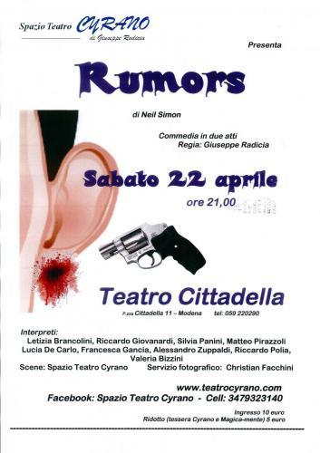 locandina rumors